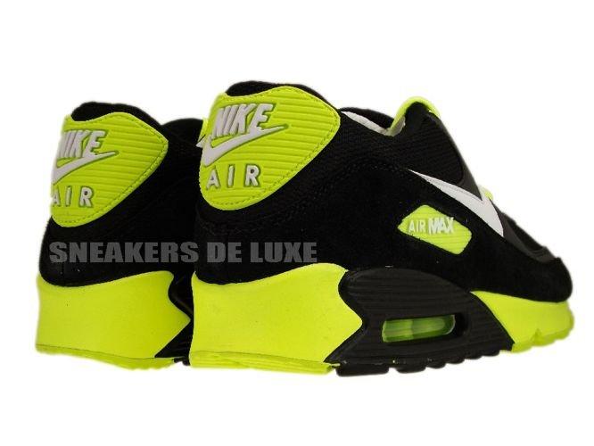 325018-099 Nike Air Max 90 Black/White-Volt .