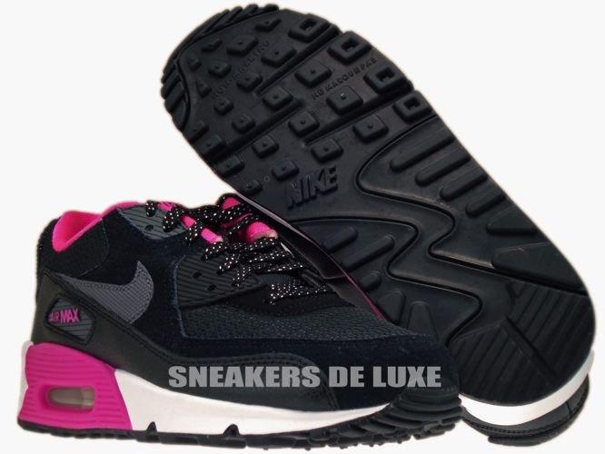 check out ae0a4 e1de5 345017-017 Nike Air Max 90 BlackDark Grey-Pink Foil- ...