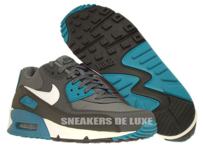537384-010 Nike Air Max 90 Essential Dark Grey/White- ...