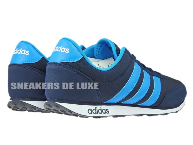 best website 9c228 8b3ab adidas neo leather silver blue