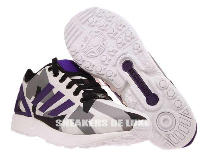 ... silver; b34517 adidas zx flux ftwr white collegiate purple core black  ...