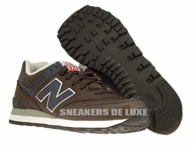 new balance leather 574 red