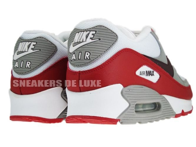 sports shoes 4e5e8 5a20c Nike Air Max 90 309299-128 WhiteDeep Burgundy-Varsity-Red ...