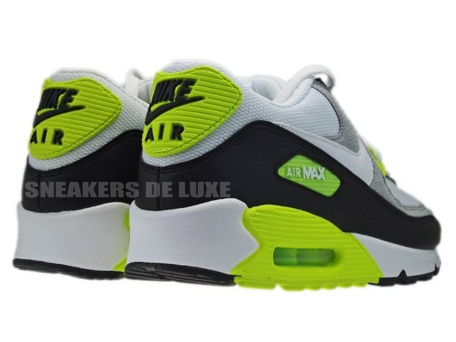 916d42efe21f Nike Air Max 90 BlackWhite-Medium Grey-Volt 325018-048 . ...