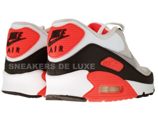 ... Nike Air Max 90 White/Cement Grey-Infrared-Black 325018-107 ...