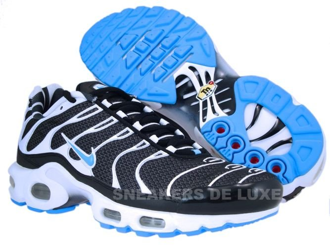 ... Nike Air Max Plus TN 1 Black/Vivid Blue-White ...