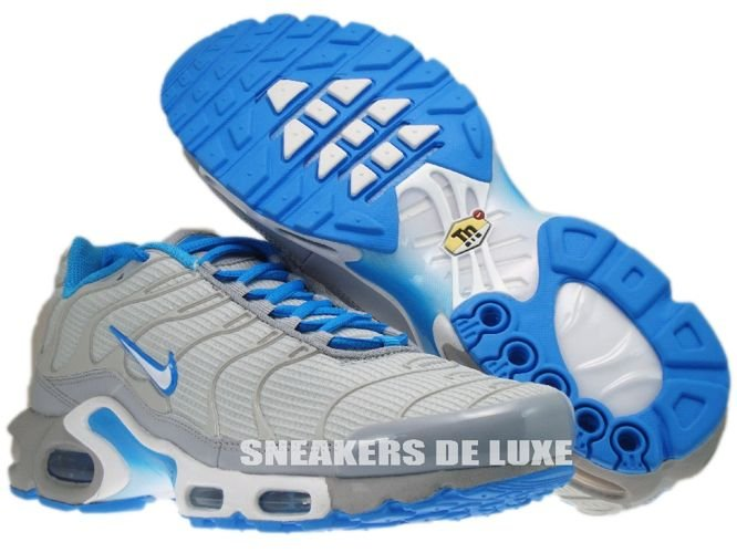 ... Nike Air Max Plus TN 1 Neutral Grey/White-Blue Glow ...