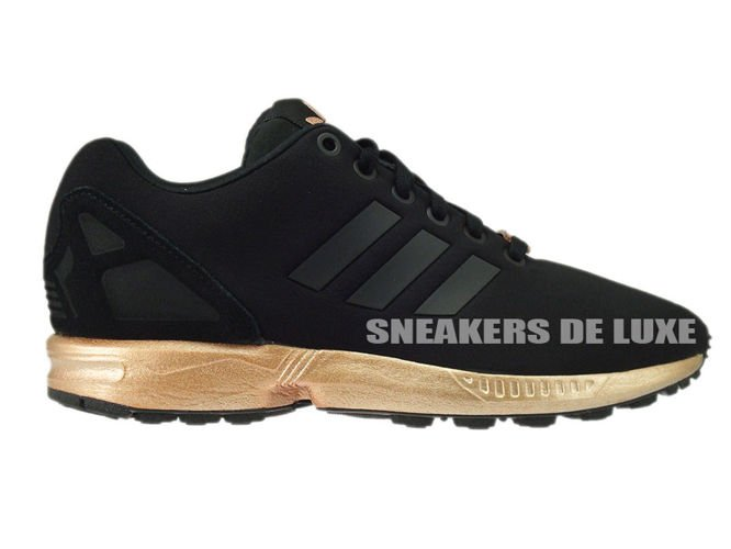Adidas Zx Flux Core Black And Copper