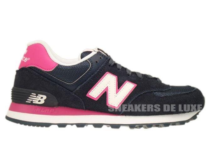 new balance 574 navy pink
