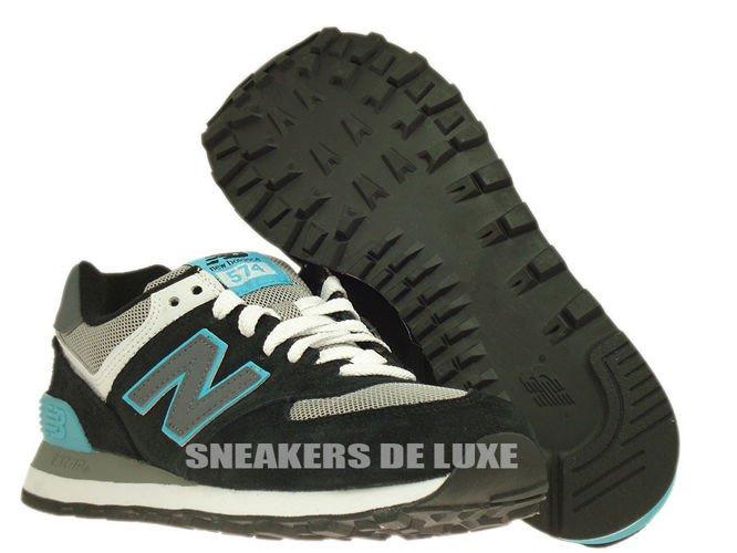 new balance 574 black and blue