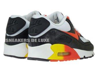 307793-180 Nike Air Max 90 White/Black Orange-Yellow