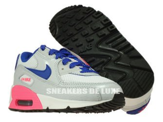 345018-116 Nike Air Max 90 PS White/Hyper Blue-Pink-Pure Platinum