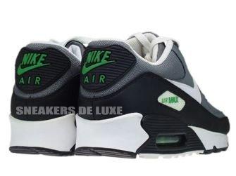 345188-012 Nike Air Max 90 Cool Grey/White-Hyper Verde