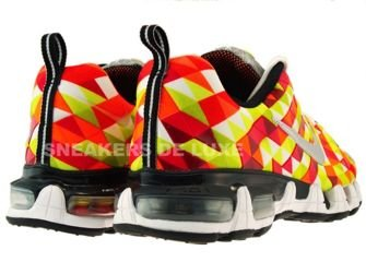 363886-601 Nike Tuned X 10 Limited Hot Red/Metallic Silver-Electrolime