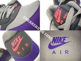 537383-006 Nike Air Max 1 Essential Medium Grey/UltramarineDark Grey-Solar Red