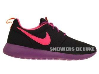599729-007 Nike Rosherun Black/PInk Power-Bold Berry-Total Orange