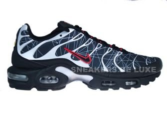 604133-903 Nike Air Max Plus TN 1 Black/Black-Comet Red