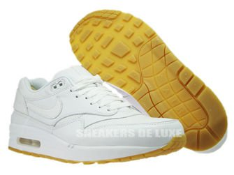 705007-111 Nike Air Max 1 Leather PA White/White-Gum Light Brown