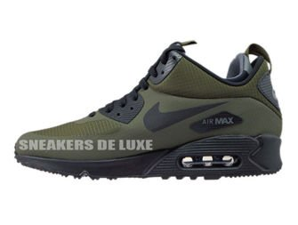 806808-300 Nike Air Max 90 Mid Winter Dark Loden/Black-Dark Grey