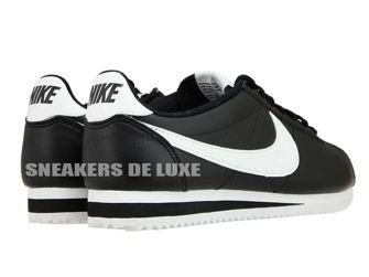 807471-010 Nike Cortez Classic Leather Black/White-White