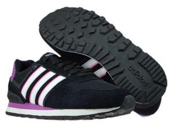 AW4932 adidas neo 10K W Core Black/ White/Shock Purple