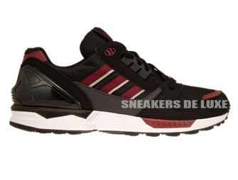M19664 adidas ZX 8000 Core Black / Collegiate Burgundy / Dgh Solid Grey