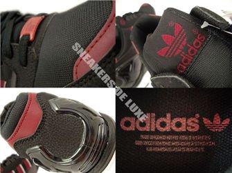 M19664 adidas ZX 8000 Core Black / Collegiate Burgundy / Dgh Solid Grey