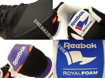 M46196 Reebok Royal CL Jogger BlackCoral/Violet/White