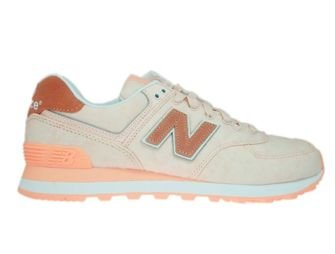 New Balance WL574SWA Pink with Diva Pink & White