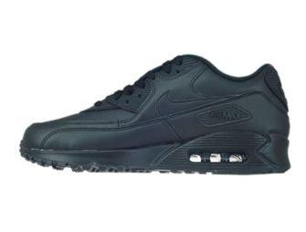 Nike Air Max 90 302519-001 Leather Black/Black