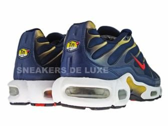 ... Nike Air Max Plus TN 1 Obsidian/Sport Red-Metallic Gold-Black 604133 ...