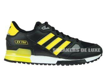 S76193 adidas ZX 750 Black/Mgh Solid Grey/Mgh Solid Grey
