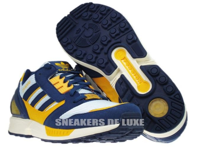 bce110dc0 147011 Adidas Originals ZX 8000 Dawn Blue Dark Slate Cadmium Yellow .