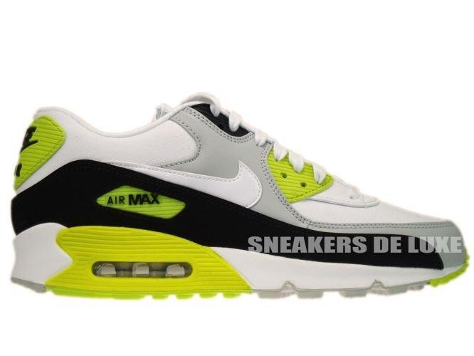 reputable site c2c71 25f08 333888-018 Nike Air Max 90 Premium Strat Grey White-Black-Cyber ...
