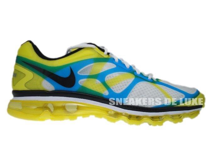 2ad180a05f5c 487982-107 Nike Air Max+ 2012 White Black-Lemon Twist-Current Blue ...
