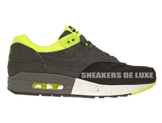 512033-002 Nike Air Max 1 Premium Black Anthracite-Anthracite-Volt ... 4a02518c39