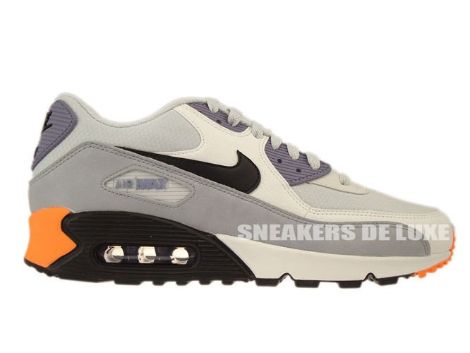 Nike Women's Air Max 90 Leather Running Shoes SNEAKERS Iron
