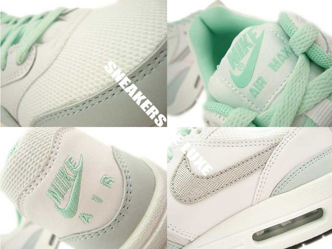 653653 105 Nike Air Max 1 WhiteMetallic Silver Anthracite