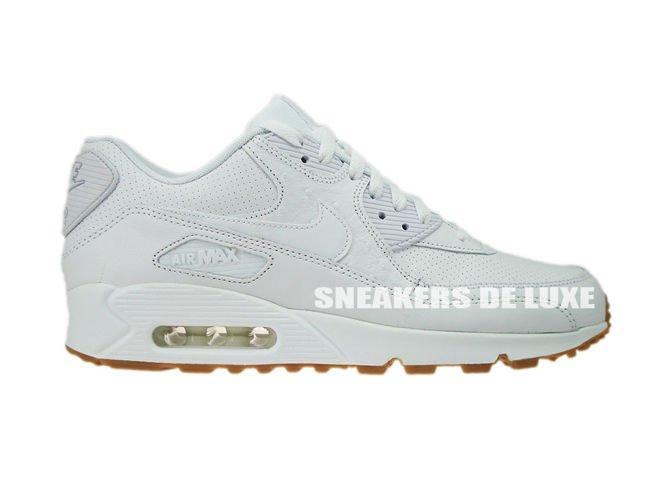 705012-111 Nike Air Max 90 Leather PA White/White-Gum Light ...