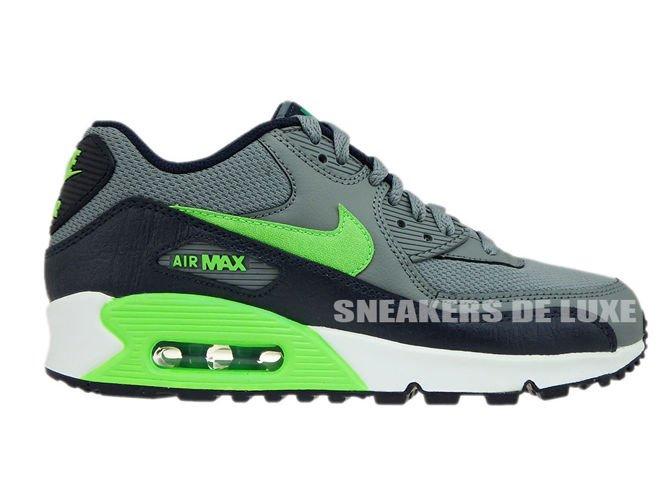 e48167cf98 724824-013 Nike Air Max 90 Cool Grey/Voltage Green-Obsidian-Lucid ...
