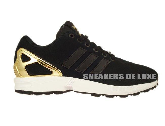 aa4c910ca888 B35319 adidas ZX Flux Core Black   Core Black   Gold Met. B35319 ...