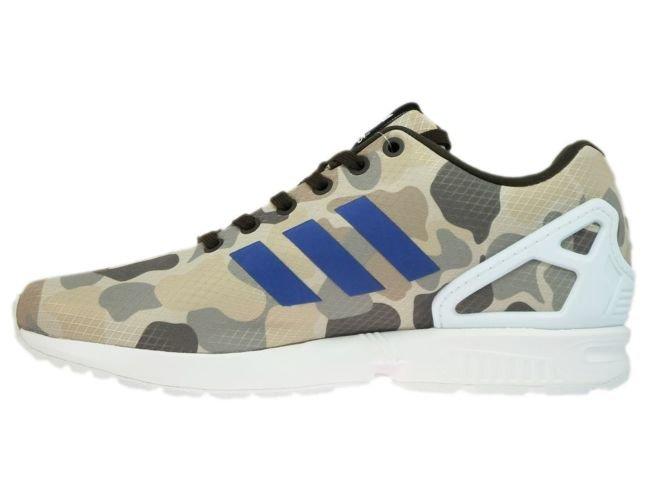 online store 35207 1c6c9 ... BB2174 adidas ZX Flux Camo Umber  Blue  White ...