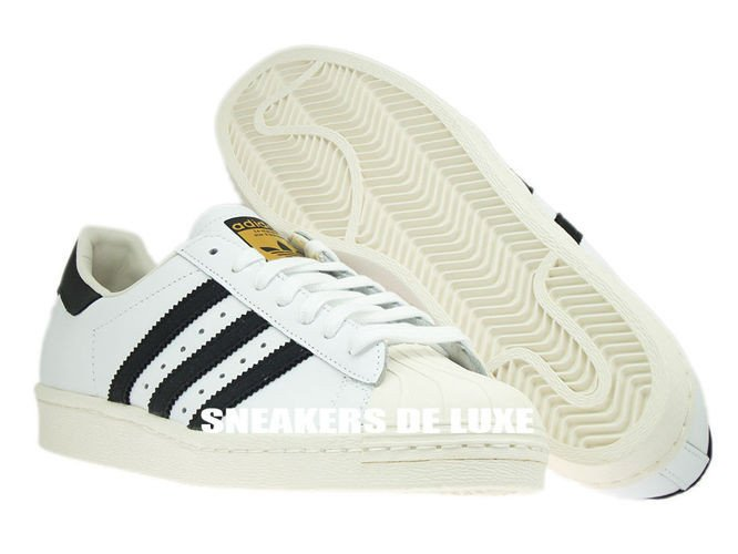 a00904362483 G61070 adidas Originals Superstar 80s White   Black   Chalk G61070 ...