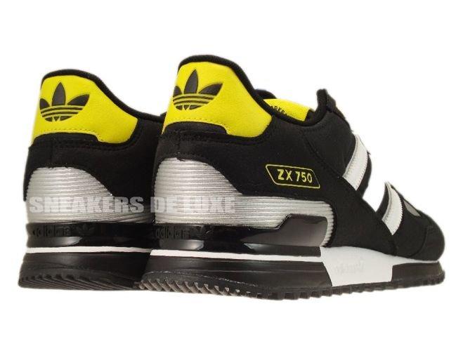 0790571d43d92 ... 50% off g61241 adidas originals zx 750 black white metallic silver  10250 9786a