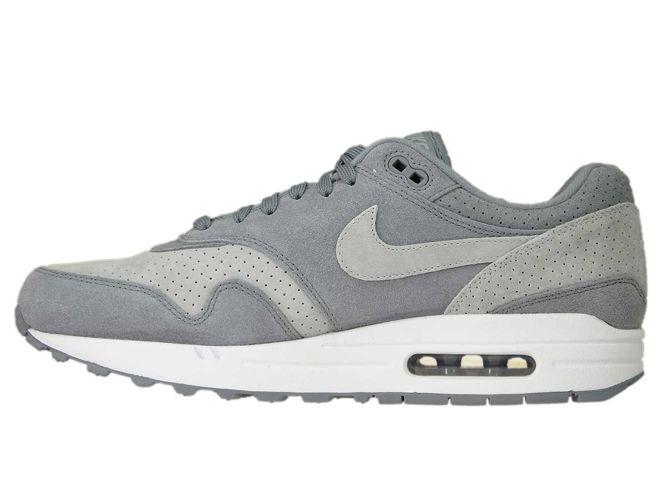 the latest d0eda 9134d ... Nike Air Max 1 Premium 875844-005 Cool Grey Wolf Grey-White ...