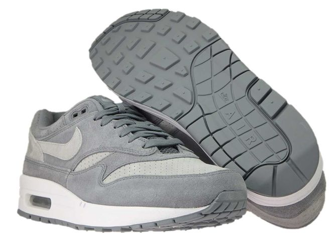 the latest bb711 8f357 ... Nike Air Max 1 Premium 875844-005 Cool Grey Wolf Grey-White ...