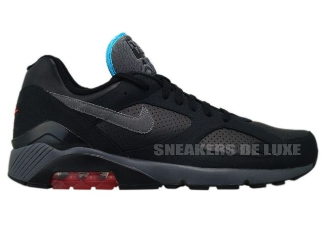 Nike Air Max 180 Black Dark Grey–Alarming Red–Chlorine Blue 310155- ... 80fbeda2523b