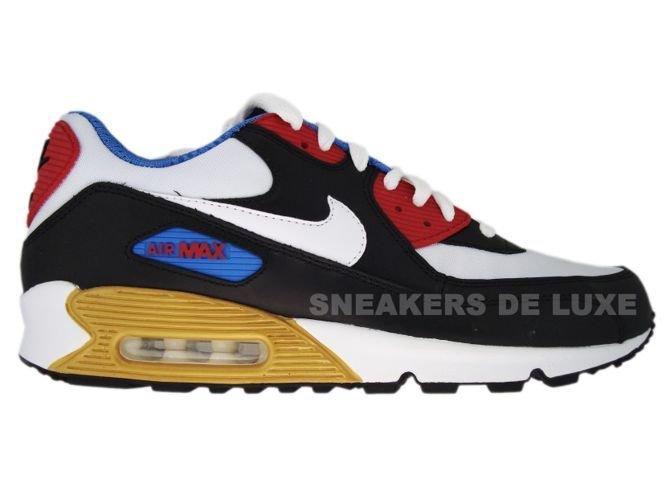 separation shoes 5b127 02854 Nike Air Max 90 Premium LE Black White Varsity Red Varsity Blue 333888 ...