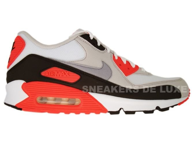 watch 093dd 2ee13 Nike Air Max 90 White Cement Grey-Infrared-Black 325018-107 ...