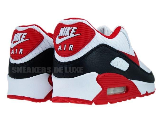 pretty nice 84910 78680 ... Nike Air Max 90 White Sport Red-Black 375572-101 ...